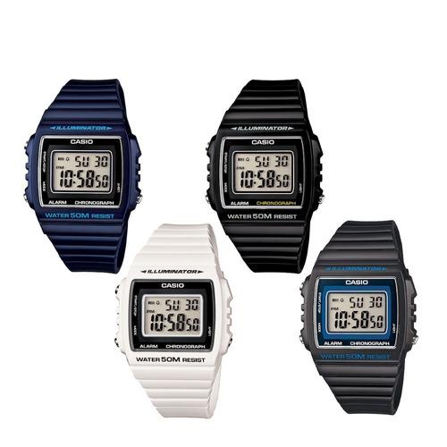 reloj casio w215 blanco negro garantía oficial colores - º