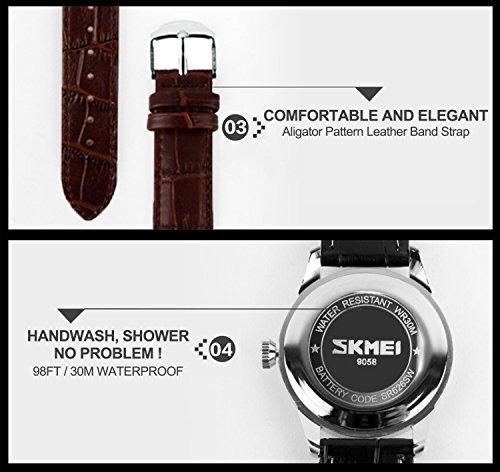 reloj casual de cuarzo análogo impermeable clásico p/hombre