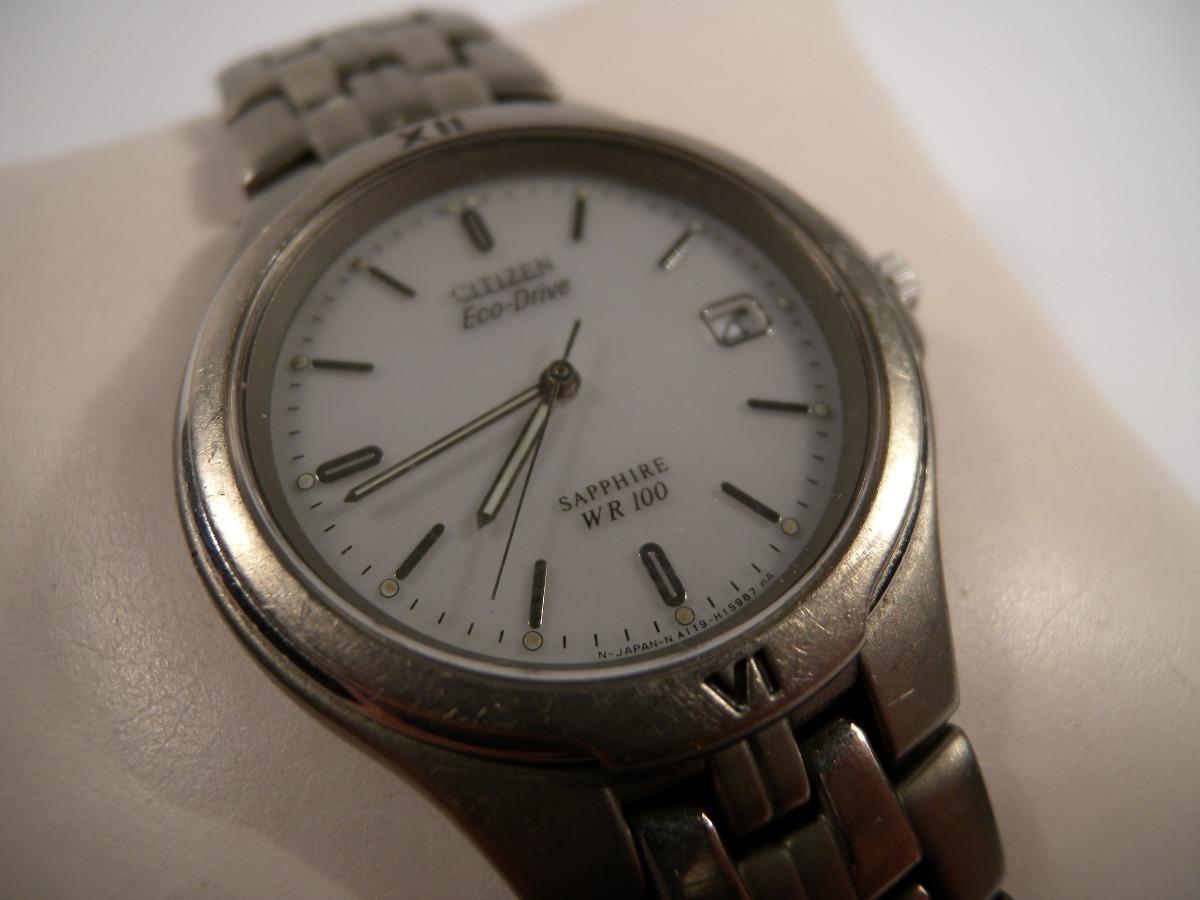8e00ba00a9a2 reloj citizen eco drive titanium wr 100 caballero excelente. Cargando zoom.