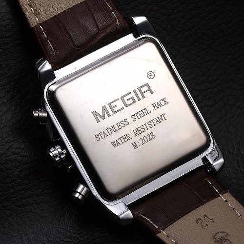 reloj cronografo megir  modelo 2028syn - original