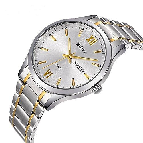reloj cuarzo analógico acero inoxidable p/hombre