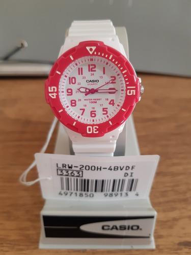 reloj dama casio lrw-200h-4b