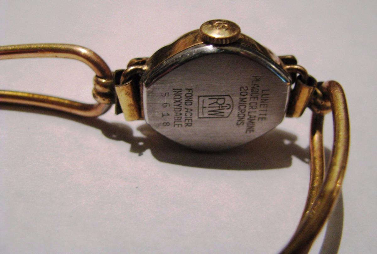 20fd55cc8f8c reloj de dama antiguo con pulsera todo enchapado oro 20 micr. Cargando zoom.