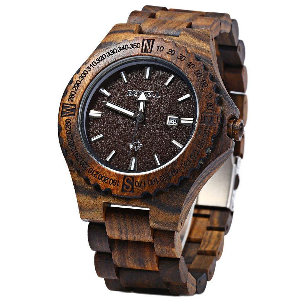 fa05c2b73f10 Reloj De Madera Para Hombre Reloj De Pulsera De Madera He - U S 70 ...