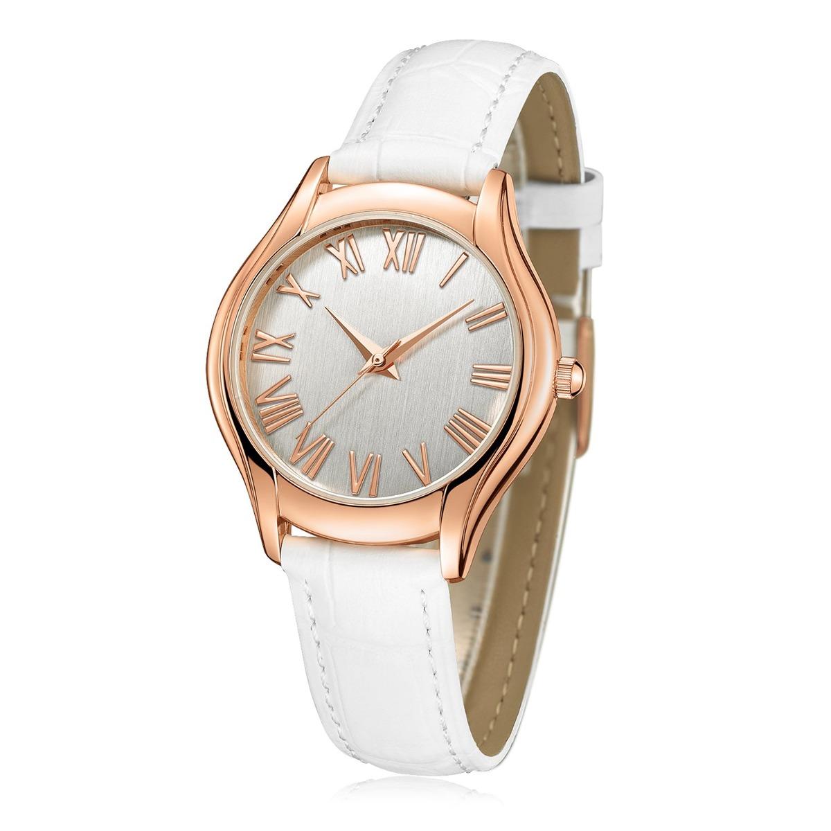 Reloj De Pulsera Para Mujer Números Romanos En Oro Rosa Us 57