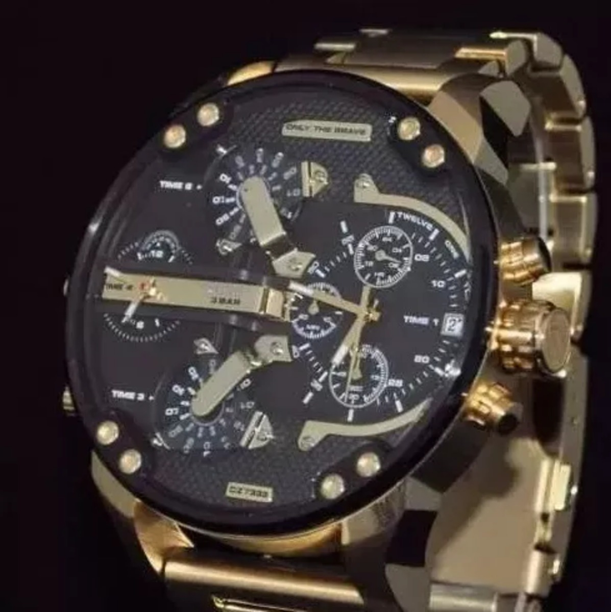 a0fa606ca9f7 Reloj Diesel Bañado En Oro Only The Brave Dz 7333 A517 -   7.000