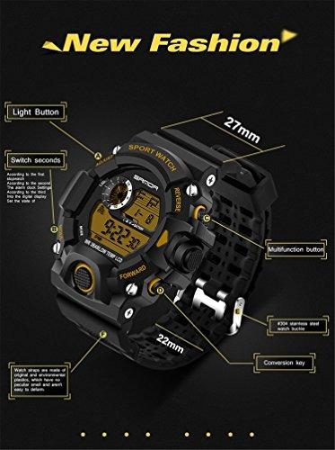 reloj digital wdnba p/hombre, deportivo, con luz led, cuarzo