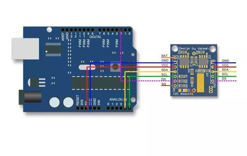 reloj  ds3231 precision con i2c memoria 24c32 rtc  arduino