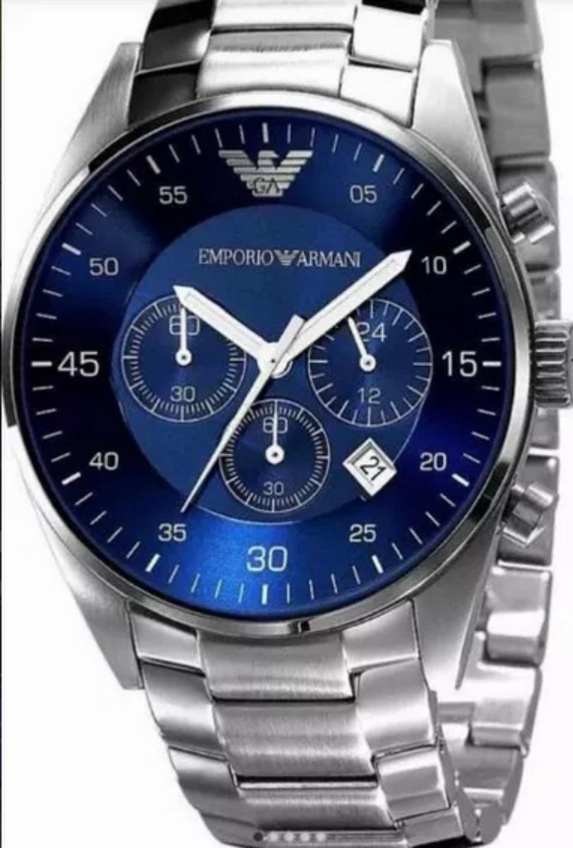dc7f65e85 Reloj Empório Armani Ar1787 Fondo Azul Original - $ 6.865,00 en Mercado  Libre