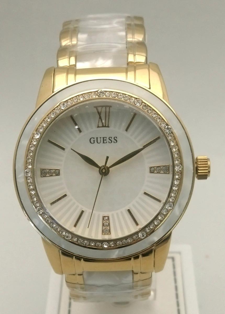 d1a86cc959ab reloj guess dama acero combinado enchapado y nacar. Cargando zoom.