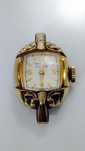 reloj hamilton illinois caja dorada 10k (inv 659)