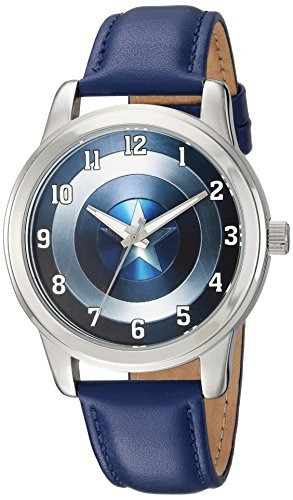 reloj marvel mens captain america quartz