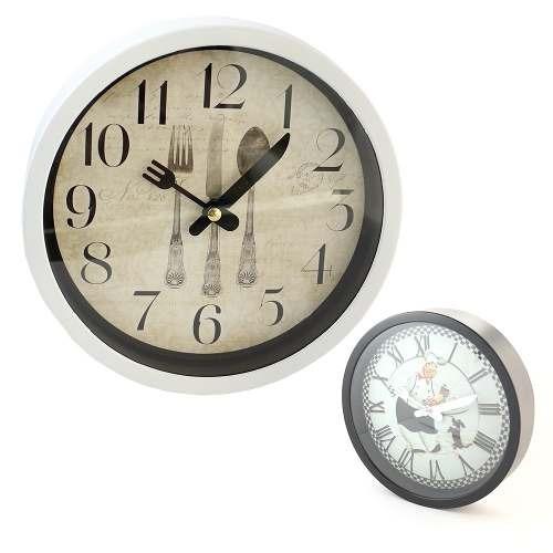 Reloj Para Pared Redondo Diseño Cocina 20cm - Todo Acá