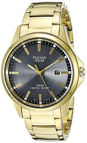 reloj pulsar men's px3076 solar dress analog display