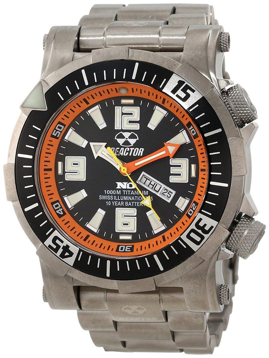 Poseidon Titanium Ti Quartz 1000m Reloj Reactor Men's 54008 roeCQxBWd