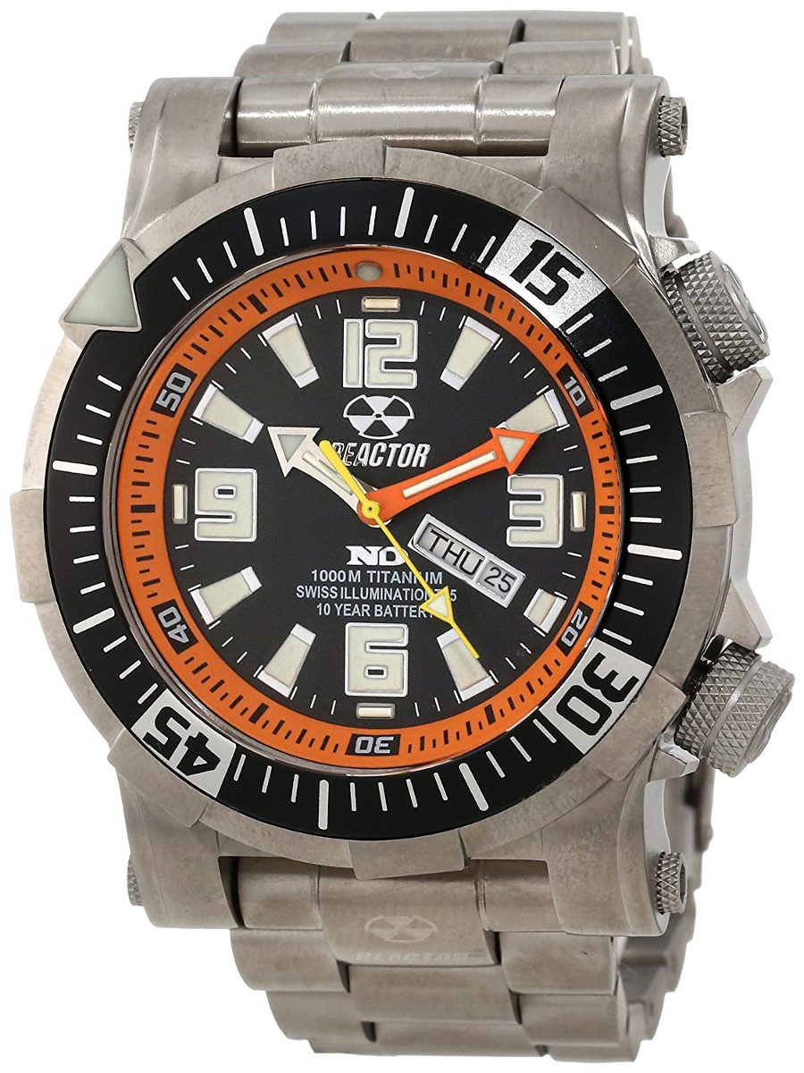 Quartz Men's Ti 54008 1000m Poseidon Reactor Titanium Reloj PukZiOX