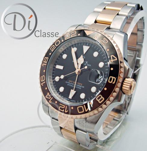 reloj rolex gmt master ii combinado/acero oro rosa