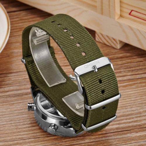 reloj tipo militar de cuarzo analógico digital correa de lon