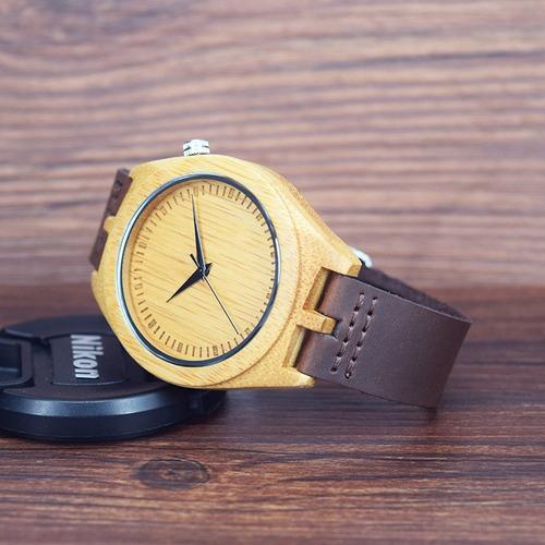 9c95663a81da Relojes De Madera De Bambú Natural De Los Hombres De Siha - U S 56 ...