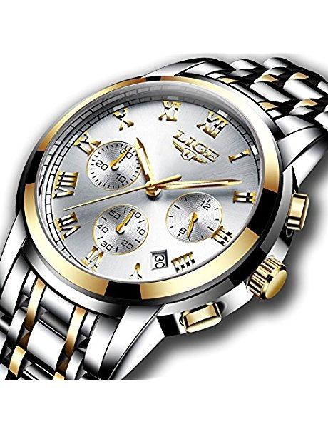 25b3306d2b67 Relojes Para Hombre Full Acero Reloj De Muñeca Analógico De ...