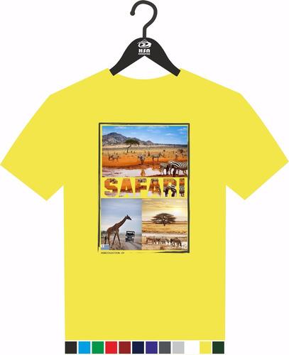remera a todo color diseño safari