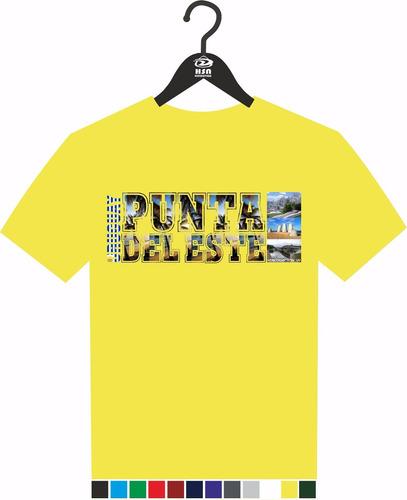 remera a todo color  uruguay turístico, diseño punta