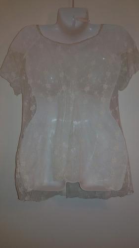 remera blusa calada bordada fiesta divina nueva