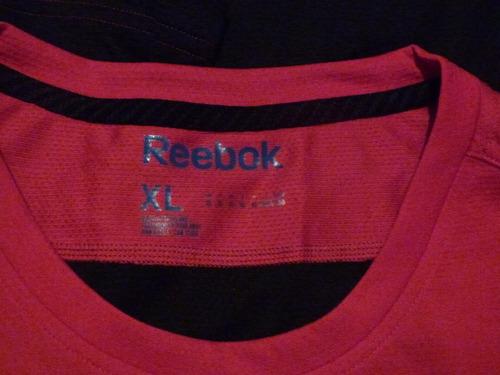 remera deportiva de hombre reebok talle xl rojo oscuro/negro