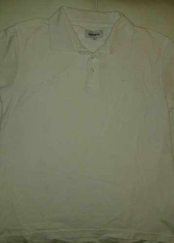 remera hombre pique cacharel tipo polo talle s blanca