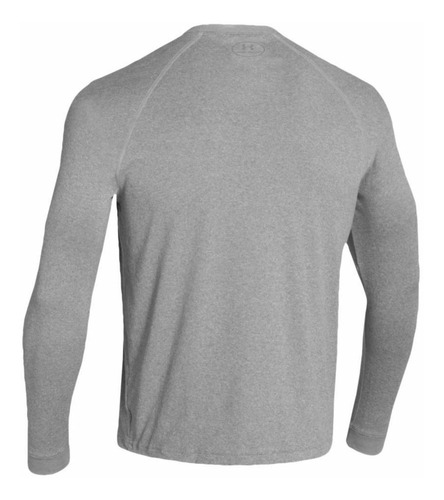 remera m/l under armour heatgear 2xl, gris, para hombre