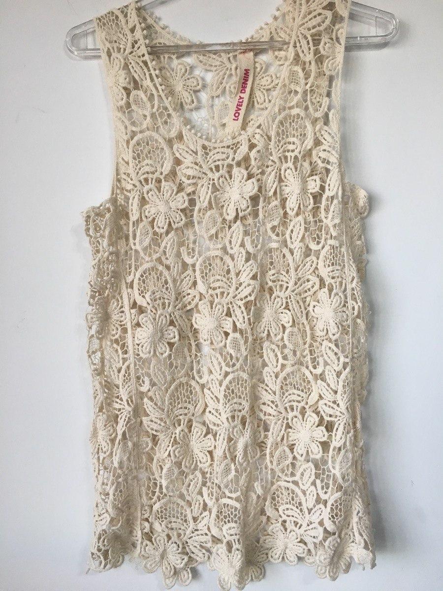 Remera Musculosa Crochet Marca Lovely Denim Talle M - $ 290,00 en ...
