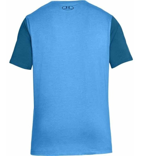 remera under armour better big logo azul