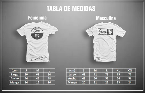 remeras estampadas metalica cheer up