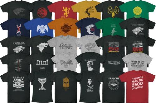 remeras game of thrones, stark, personalizadas, estampadas