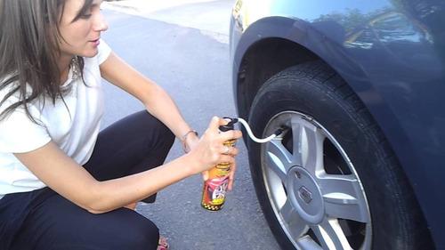 repara pinchazos auto infla sella neumático
