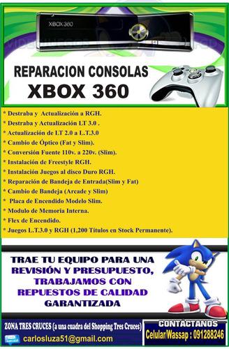 reparacion consolas ps2- ps3-ps4- xbox 360 -xbox one - wii