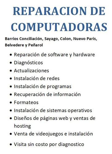 reparacion de computadores (diagnostico sin costo)