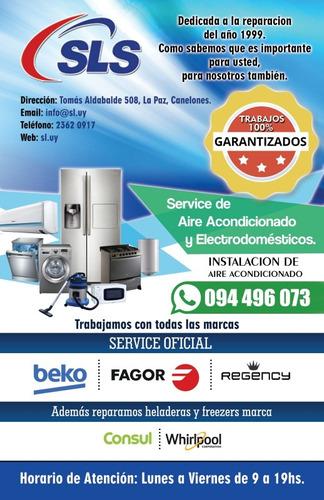 reparación de heladera, lavarropas, aire acondicionado.