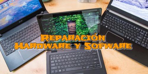 reparación de laptops electrónica hardware y software