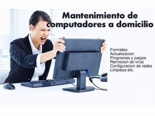 reparación de pc, laptops, servidores y redes a domicilio