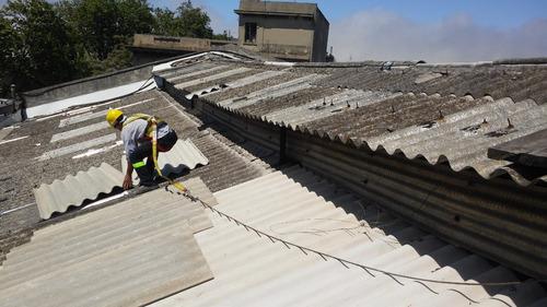 reparación de techos de chapa. mantenimiento industrial.