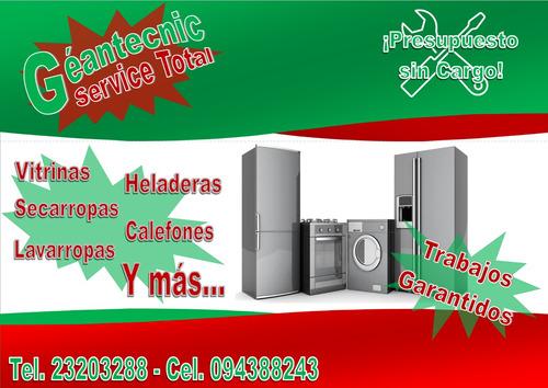 reparacion service heladeras secarropas lavarropas calefones