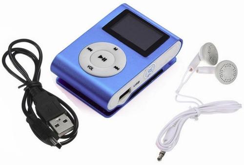 reproductor mp3 pantalla auriculares cable y slot micro-sd ®