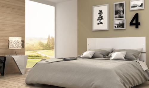 respaldo cabecera para cama de dos plazas - sommier