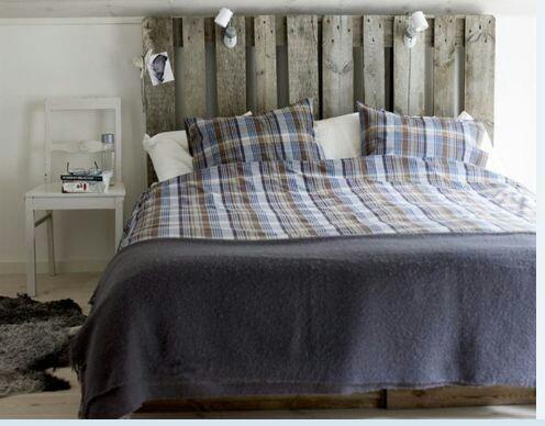 respaldo pallets para sommier o cama matrimonial