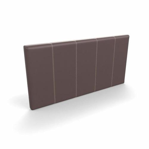 respaldo rodas en eco cuero color chocolate 160x80