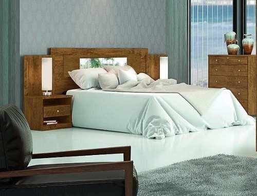 respaldo somier cama sommier 2 plazas mesas de luz 855381