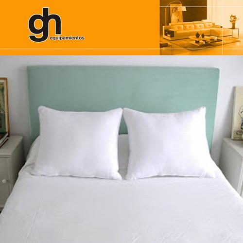 respaldo sommier o cama de 2 plazas tapiz color a eleccion