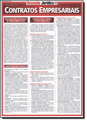 resumão - contratos empresariais de vander brusso da silva b
