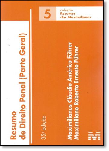resumo de direito penal parte geral vol 5 coleção resumos ma